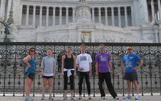 TNT in front of Vittorio Emanuele Monument, Roma.